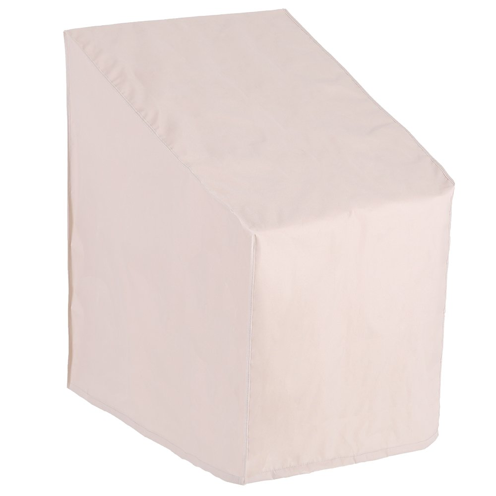Patio Watcher Stackable Patio Chair Cover, Durable and Waterproof Out Furntirue Chair Cover,Beige