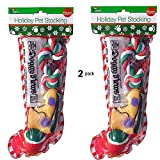 Christmas Stocking Dogs. Perfect Pack of 2