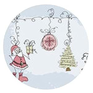 alfombrilla de ratón Objeto de la Navidad del Doodle del bosquejo dibujado a mano - ronda - 20cm