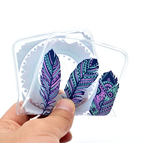 Huawei P10 Lite Funda , IJIA Ultrafino Transparente Cráneo Flores TPU Silicona Suave Cover Tapa Caso Carcasa Cubierta para Huawei P10 Lite AK88