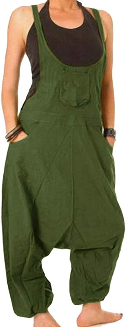 Tymhgt Womens Solid Summer Linen Short Sports Jumpsuit Playsuits Shorts