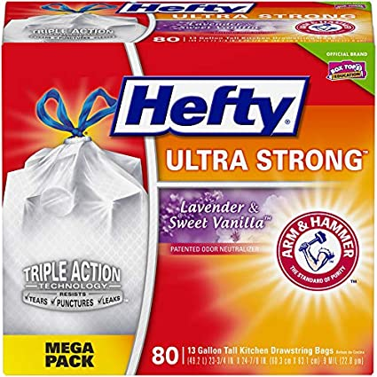 Amazon.com: Bolsas de basura Hefty ultrafuerte (limpias, a ...