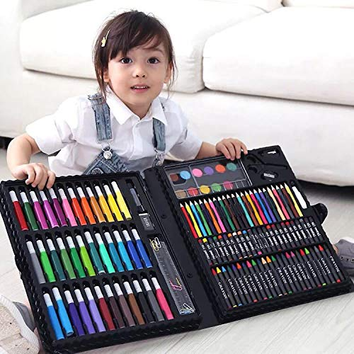 150pcs Painting Drawing Set Crayon Colored Pencils Watercolors Pens For Kids Children Artist Art Set Paint Brushes