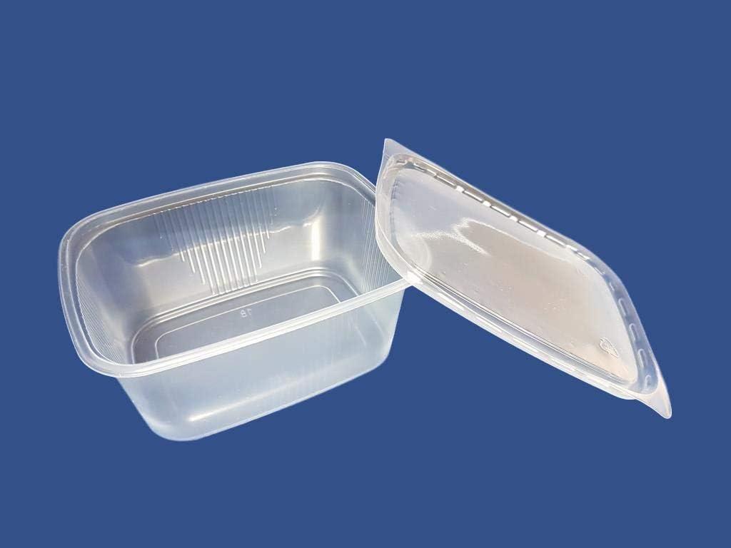 Recipientes desechables de plástico para ensalada (250 ml, 150 unidades)