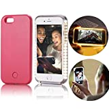 iphone 5 5s Case,Vandot LED Light Up Luminous Selfie Cell Phone Case Illuminated Dimmable Bright Bumper Case Anti-scratch Perfect Fit PC Hard Back Cover Skin For Apple iphone 5 5s SE -Pink