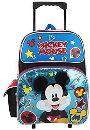 Disney Mickey Mouse 16'' Large Rolling Backpack by Mickey Mouse