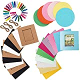 make your own photo frame - Mini Paper Hanging Frames - Pass Lanry Paper Photo Frame Set Film Decor Borders Wall DIY Paper Frame for 3 inches film Instax Mini 8 /9 / 7S / 25 / 50S / 90