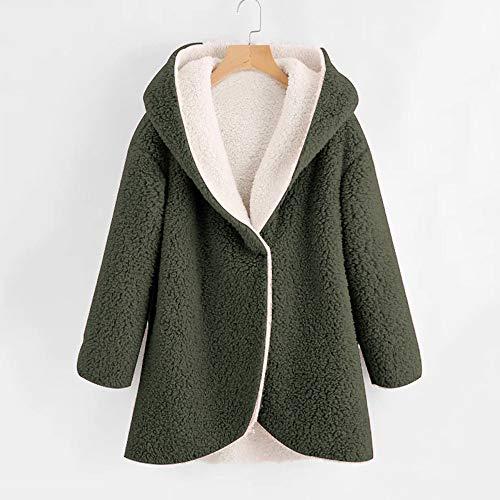 verde da con invernali Plus cerniera Giacca lana cappuccio Xxxxxl Tasca Cardigan Cappotti di Flower Size Vendita Fossen donna volpe con Marche S Elegante Bxqp6w
