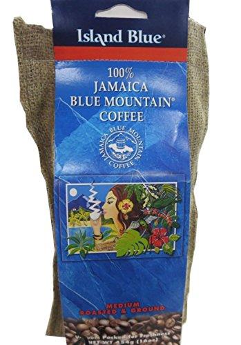 Island Blue -100% Jamaica Blue Mountain Coffee - Grounds (2-16oz bags) by Blue island