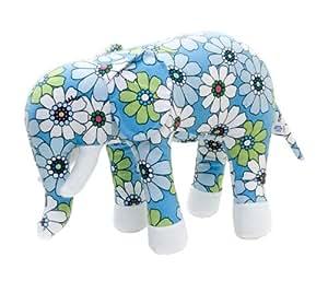 Color Zoo Ellis The Elephant Stuffed Toy, Blue