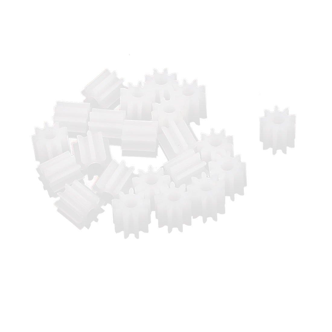 sourcingmap/® 20 Stk 5mmx2mm 9 Z/ähne Plastik Dicke Motor Spindel Hauptzahnrad f/ür DIY robbot de