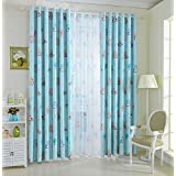 FADFAY Home Textile,Cute Owl Kids Curtain For Bedroom,Designer Cartoon Children Curtains,Unique Kids Character Living Room Curtain,2Panels