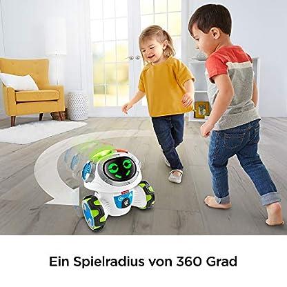 Fisher-Price FKC35 Lern-Roboter Movi interaktiver Lernspielzeug Roboter deutschsprachig, ab 3 Jahren 4