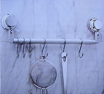 Küchen Hakenleiste küchen hakenleiste ohne bohren 6 haken küchenhelfer leiste reling