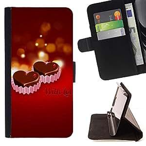 Jordan Colourful Shop - WITH LOVE For Samsung Galaxy A3 - < Leather Case Absorci????n cubierta de la caja de alto impacto > -
