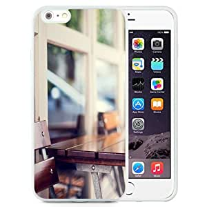 Fashionable Custom Designed iPhone 6 Plus 5.5 Inch Phone Case With Urban Wooden Coffee Table_White Phone Case