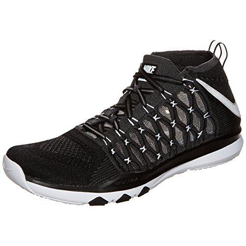 Nike Train Ultrafast Flyknit 843694-010 Noir / Blanc / Gris Foncé Chaussures De Formation Pour Hommes Noir