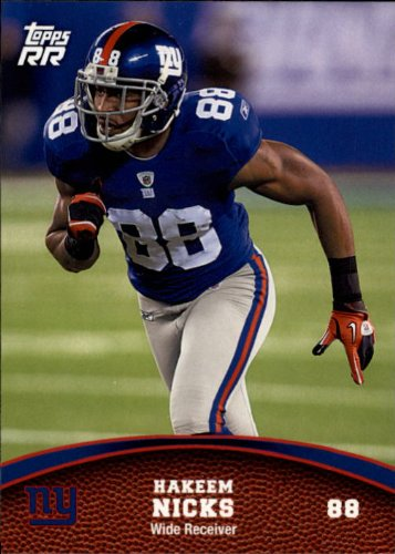 2011 Topps Rising Rookies Football Rookie Card #45 Hakeem Nicks (Hakeem Nicks Rookie Card)