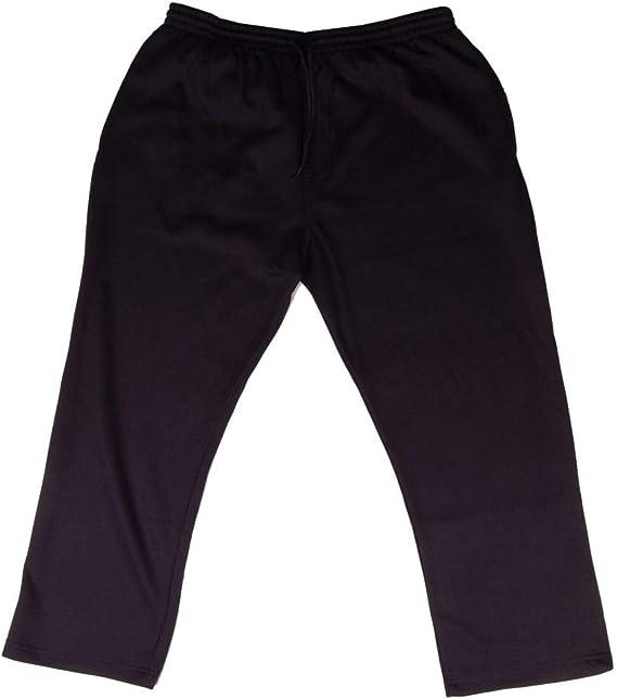 Large Mens Black Jogging Bottoms Big Sizes 2xl 3XL 4XL 5XL 6XL 7XL 8XL open hem.