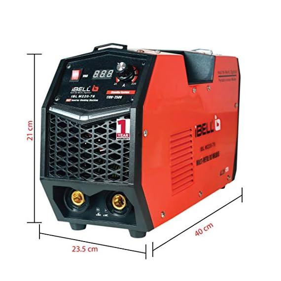 iBELL 220-78 Inverter ARC Multi Metal (SS/IRON/CARBON STEEL/COPPER/ALUMINIUM/ZINC) Welding Machine (IGBT) 220A - 1 Year Warranty 5