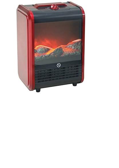 Amazon.com: Indoor Electric Ceramic Portable Mini Fireplace Space ...
