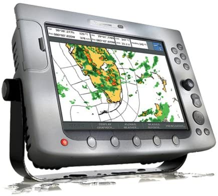 Amazon Com Raymarine E02013 E120 12 1 Inch Waterproof Navigation Display And Marine Gps Chartplotter With Fishfinder