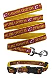Cleveland Cavaliers Nylon Collar for Pets and Matching Leash (NBA Official by Pets First) Size Medium