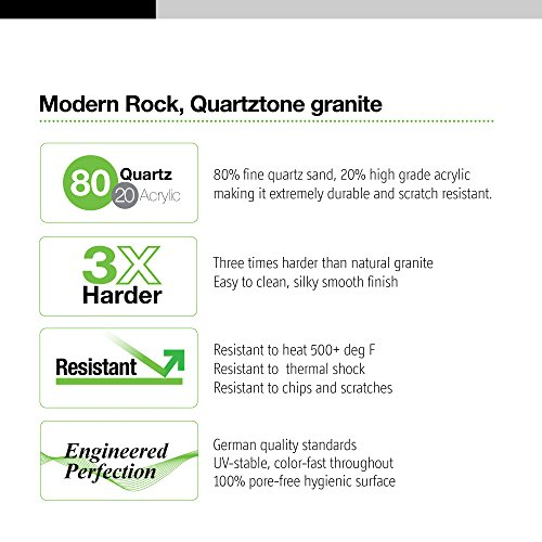 Houzer E-100 MIDNITE Quartztone Series Granite Dual Mount Bar/Prep Sink, Black by HOUZER (Image #3)