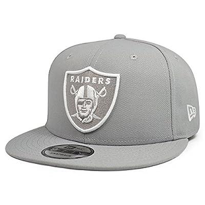 New Era Oakland Raiders Custom Gray-White 9Fifty Snapback NFL Adjustable Hat from New Era
