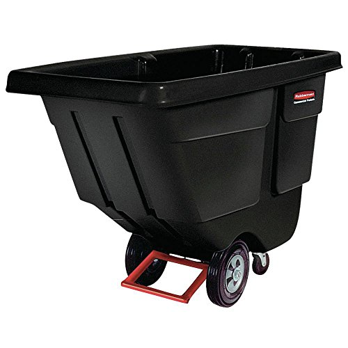 RUBBERMAID COMMERCIAL PRODUCTS C-1/2 CU. YD TILT TRUCKUTILITY DUTY BLACK 1304 00 BLA