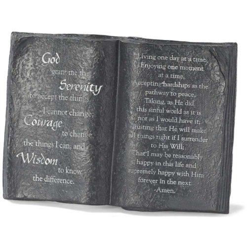 Prayer Stand (Serenity Prayer Resin Tabletop Granite Color Book Plaque - Stands 6