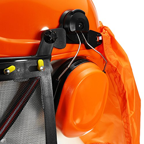 Yingte Chain Saw Forestry Safety Helmet with Ear Defenders,Mesh Visor Earmuffs Face Shield Protection by Yingte (Image #5)