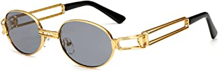 Deylay Hip Hop Retro Runde Sonnenbrille Damen Herren Vintage Steampunk Sonnenbrille UV400
