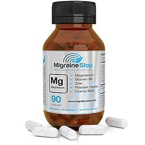 Migraine Stop | Natural Migraine Relief Supplement | Gluten Free, GMO Free, Lactose Free | 90 Vegan Capsules by Migraine Stop