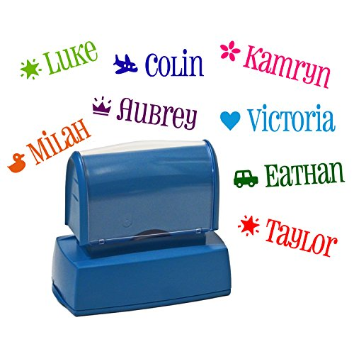 One Custom Kids Name stamp with Icon -