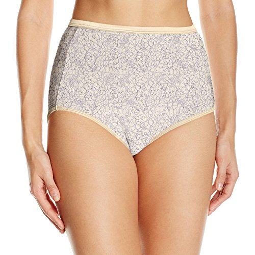 (Vanity Fair Women's Illumination Brief Panty 13109, Tranquil Lace Print, 2X-Large/9)