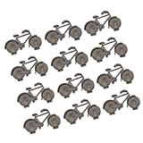 Jili Online 12pcs Metal Bicycle Bike Shape Name Number Memo Place Card Holders Wedding Birthday Party Banquet Table Decorations