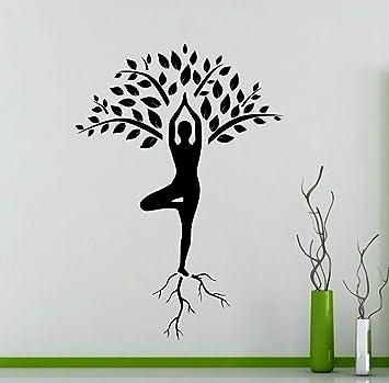 JJHR Pegatinas de pared Arte Decoración del Hogar Yoga Árbol ...