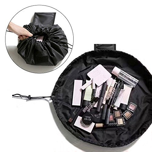 MONSTINA Makeup Bag Waterproof Makeup Storage Organizer Perfect for Women&Girls (Black)
