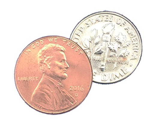 London Magic Works Dime and Penny Includes over 15 Tricks -