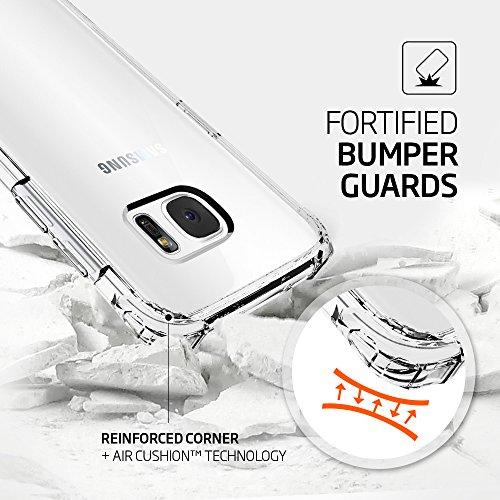 Funda Galaxy S7 Edge, SPIGEN® [Crystal Shell] Limpie el panel trasero y las esquinas reforzadas en TPU parachoques para Samsung Galaxy S7 Edge 2016 - Clear Crystal CS_Trasparente