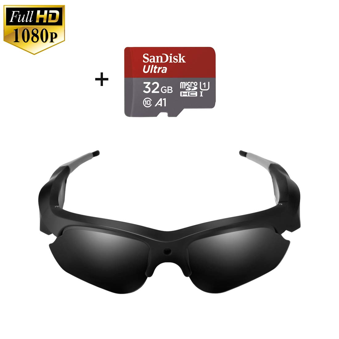Camera Video Sunglasses,1080P Full HD Video Recording Camera with 32GB Built-in Memory,Camera Glasses by MingSung