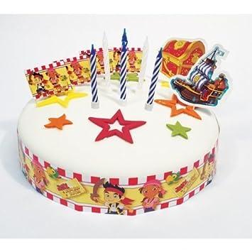 Groovy Jake The Neverland Pirates Party Cake Decorating Kit Amazon Personalised Birthday Cards Fashionlily Jamesorg