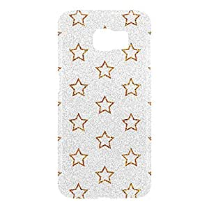 Loud Universe Samsung Galaxy S6 3D Wrap Around Glitter Dots Print Cover - Silver/Gold