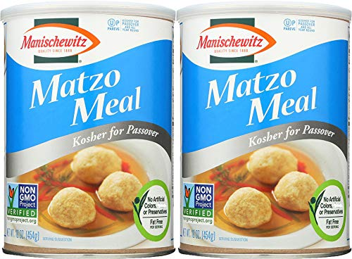 Manischewitz Matzo Meal Passover Canis, 16 oz Can (Pack of 2, Total of 32 Oz)