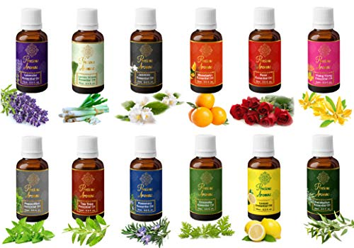 Precious Aromas Natural and Therapeutic Grade Essential Oils, 15 ml (Pack of 12) Perfumes