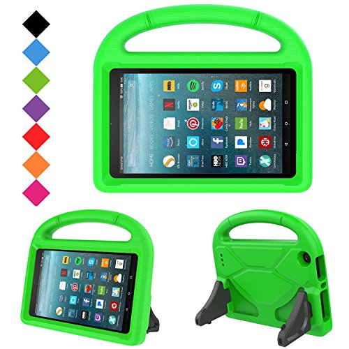 Kids Case for New Fire 7- TIRIN Light Weight Shock Proof Handle Kid Proof Cover Kids Case for Amazon Fire 7 Tablet (5th Generation, 2015 Release and 7th Generation, 2017 Release),Green