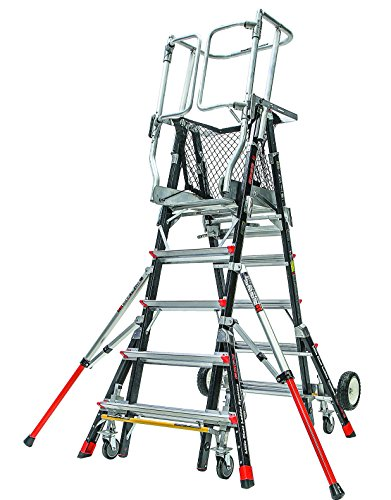 Little Giant Ladder Systems 18509-240 Aerial Safety Cage Fiberglass, 5'-9' (Little Step Giant Safety)