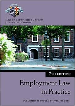 Employment Law in Practice (Blackstone Bar Manual)