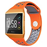 NO1seller Top Fitbit Ionic Bands Small&Large, Soft Silicone Sport Band Replacement Accessories with Ventilation Holes for Fitbit Ionic and Fitbit Ionic Adidas Smartwatch, Women and Men